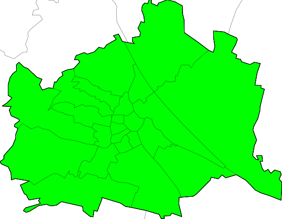UWZ Warnkarte f�r Wien