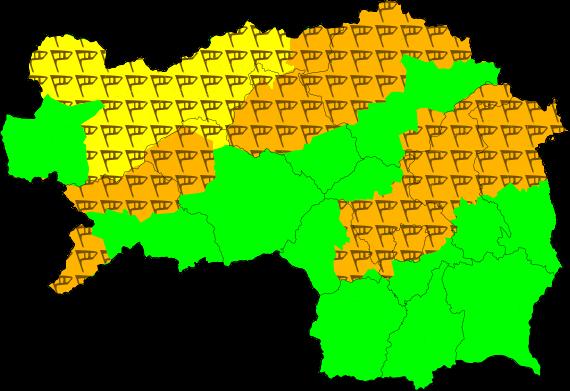 Aktuelle Unwetterwarnungen für die Steiermark