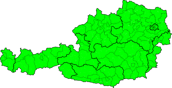 Ausztria mai teljes riasztási térképe