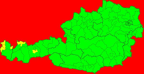 Aktuelle Unwetterkarten für Österreich
