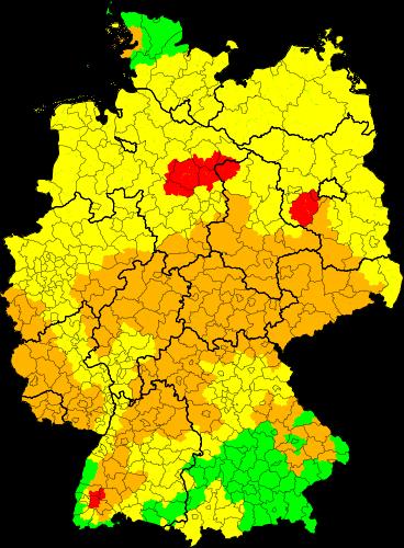 Unwetter-Warnungen für Deutschland aktuell