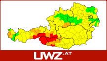 Unwetterwarnungen der uwz.at